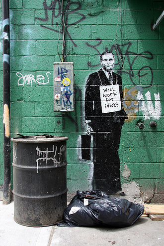 banksy will work for idiots new york