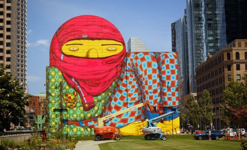 os gemeos mural in boston
