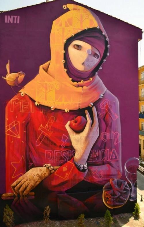 INTI – New Mural in ISTANBUL TURKEY 2013