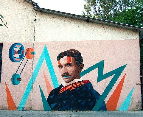 Nikola Tesla. Duga Resa. Croatia. 2012 Kunstbunker festival. Uriginal and BTOY