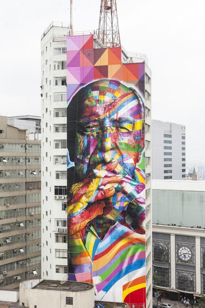 Eduardo Kobra: Tribute to Oscar Niemeyer
