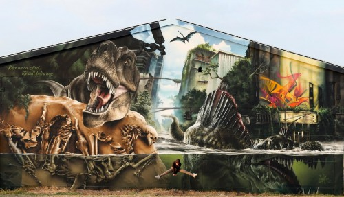 Its in the middle of nowhere, outside of Halle in Germany! Huge effort by one artist - props to MadC!!