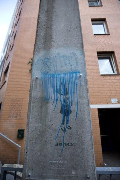Unbekannte zerstören einziges Banksy-Werk in Hamburg